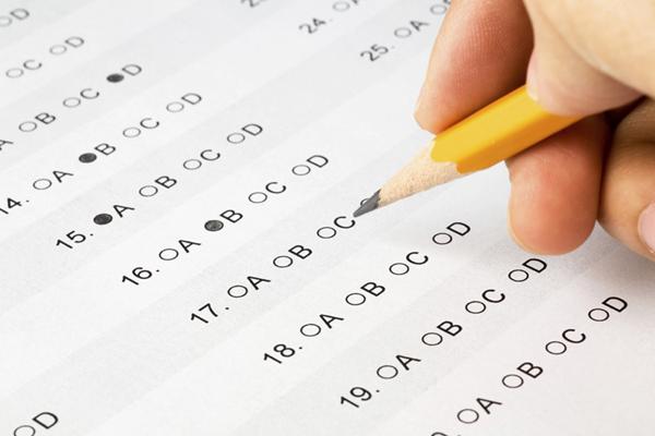 Standardized test form.
