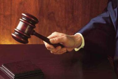 Judge bangs his gavel.