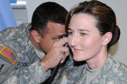 military ear exam