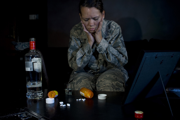 Service member struggling with substance abuse.