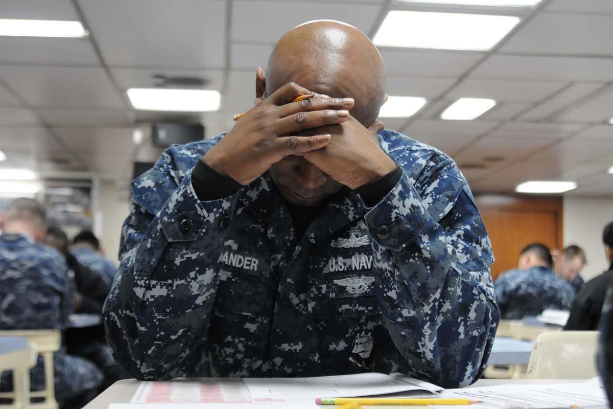 informational interviewing part com sailor taking exam