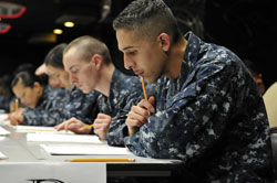 Sailors Taking Exam