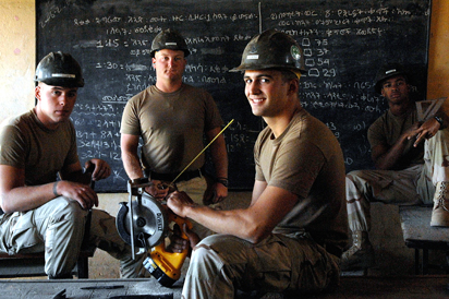 Navy SeaBees in Classroom
