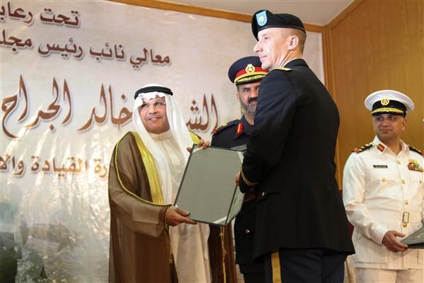 Maj. Robert Bonham receiving award.