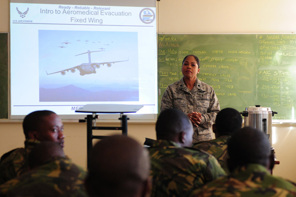 Air Force classroom lecture.