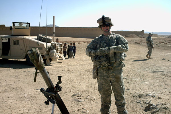 Brian Thompson in Afghanistan