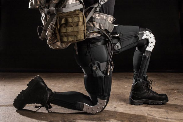 High-tech research being developed by the U.S. military, such as this exoskeleton that would help reduce injury and fatigue, is quickly blurring the lines between science-fiction and future warfare. (U.S. Army photo)