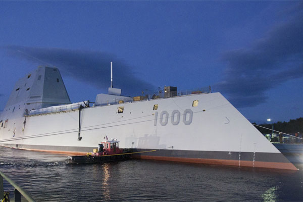 The USS Zumwalt. Navy photo