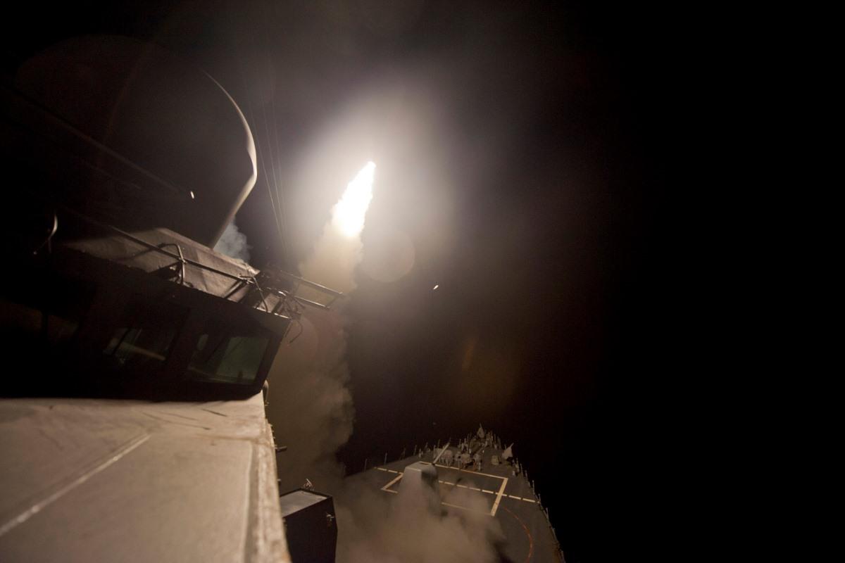 Navy Cruise Missile Strike Destroys Radar Sites in Yemen