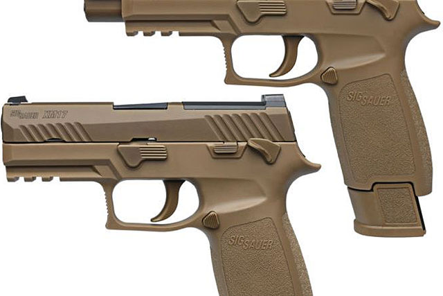 The weapon replacing the M9 9mm handgun is Sig Sauer's popular P320 model, a polymer striker-fired pistol first released in 2014. Photo via Sig Sauer