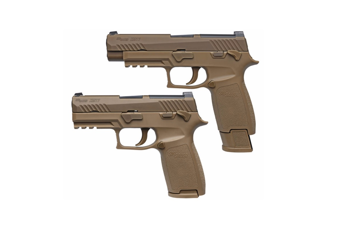 Sig Sauer says its Model P320 is the first modular pistol with interchangeable grip modules that can also be adjusted in frame size and caliber by the operator. (Photo courtesy Sig Sauer)