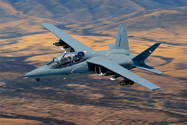 The Scorpion jet is reportedly the entry of Textron AirLand into the Air Force's light attack plane competition. (Photo courtesy of Textron)
