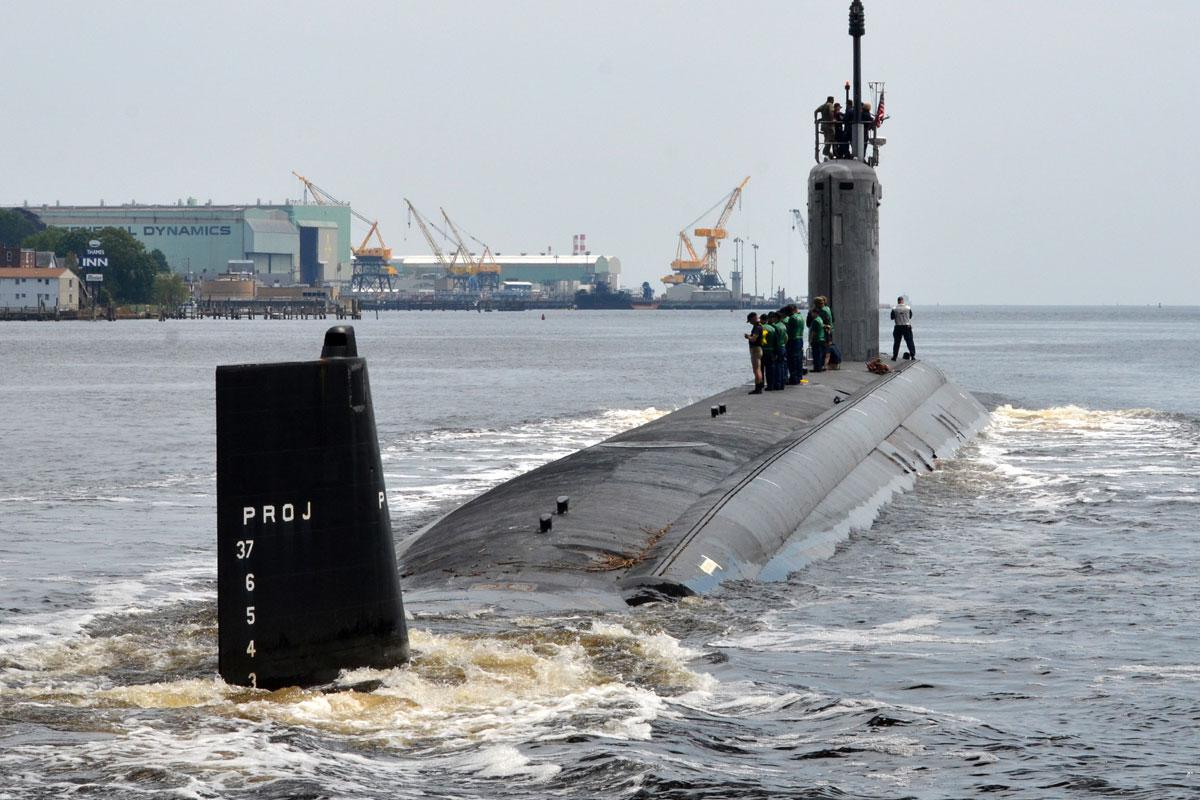 A Virginia-class attack submarine