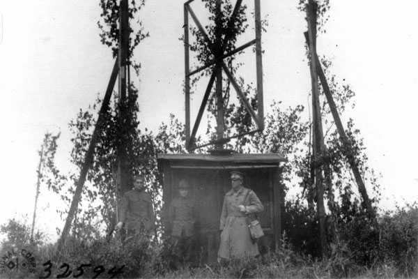 Aero Gonio Station Number 81 was located at Cormeville. (Photo: National Archives)