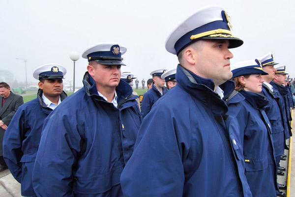 Coast Guard uniforms.