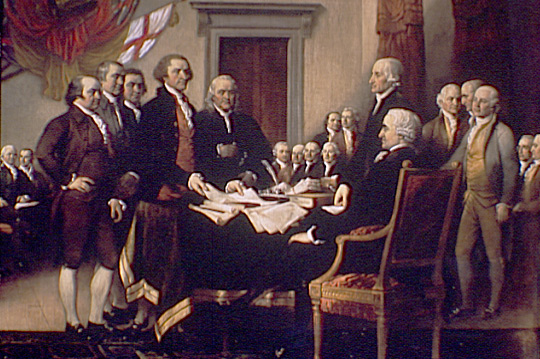 Adams and Jefferson Singing the Declaration
