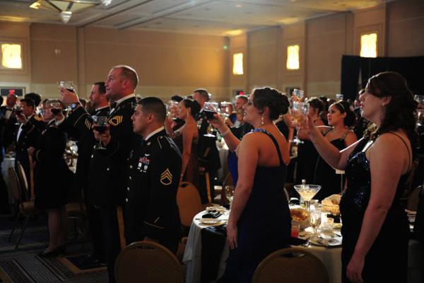 Marine Corps ball toast.