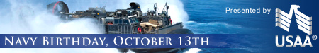 Navy Birthday, October 13th - Presented by USAA