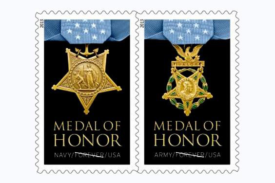 Medal of Honor stamps.