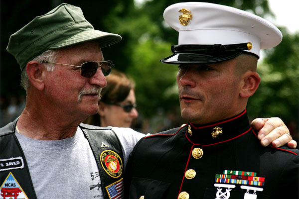 Marine Corps veteran with service member