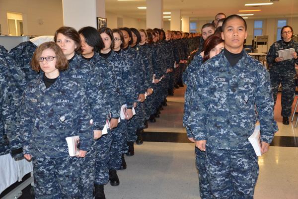Navy basic training.