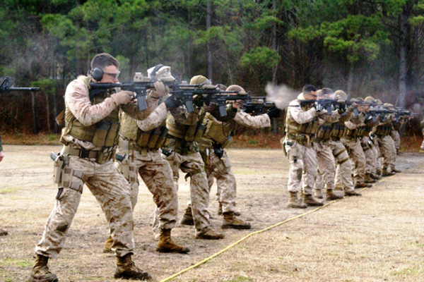 MARSOC rifle training.