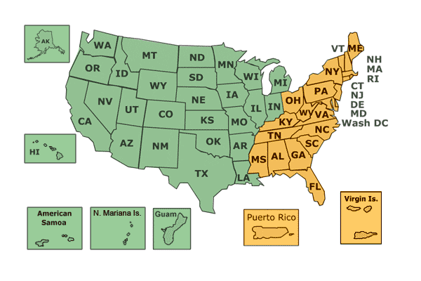 Us Map With State Abbreviations