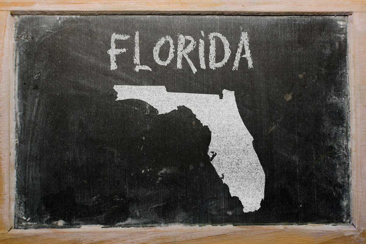 Florida Chalkboard Map