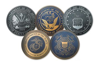 Five Armed Forces Emblems
