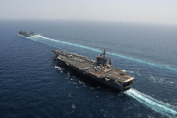 USS Dwight D. Eisenhower about to resupply