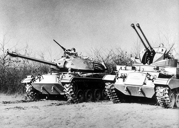 1950 T-141 tank produced by Cadillac for US Army during Korean War