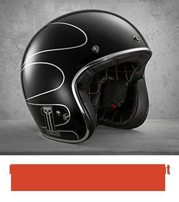 Harley Davidson Men's Elite Retro Open Face Helmet 98307-14VM