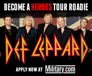 Become a Heroes Tour Roadie for Def Leppard. Apply Now at Military.com