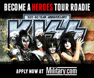 Become a Heroes Tour Roadie for KISS. Apply Now at Military.com