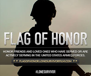 Flag of Honor: Honor friends and loved ones who have served or are actively serving in the United States Armed Forces.
