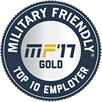 Military Friendly Top 10 Employer 2017 Gold