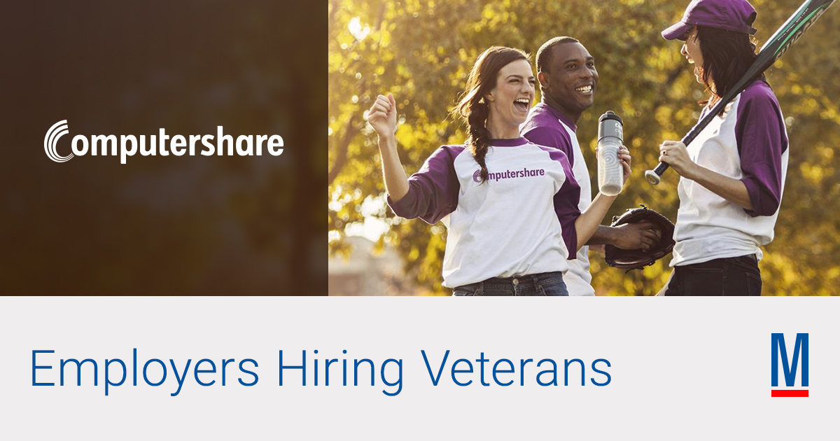 Computershare Jobs & Careers for Veterans | Military.com