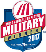 Most Valuable Employer Military Winner 2017