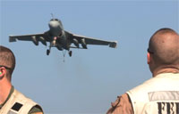 Navy Aircraft Perform Carrier Landings