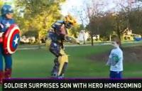 Soldier Conducts Super Hero Surprise!