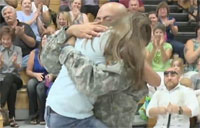 Soldier Sneaks Back for Girl's Graduation