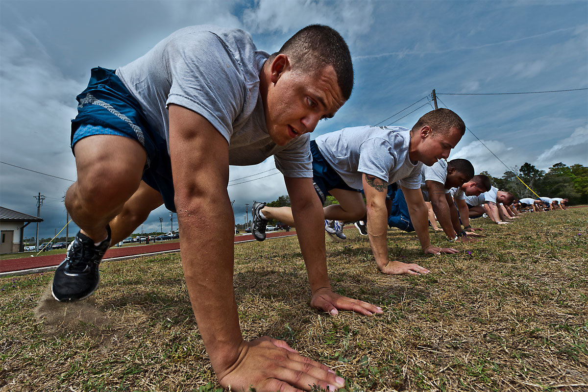 meet air force weight and physical conditioning requirements