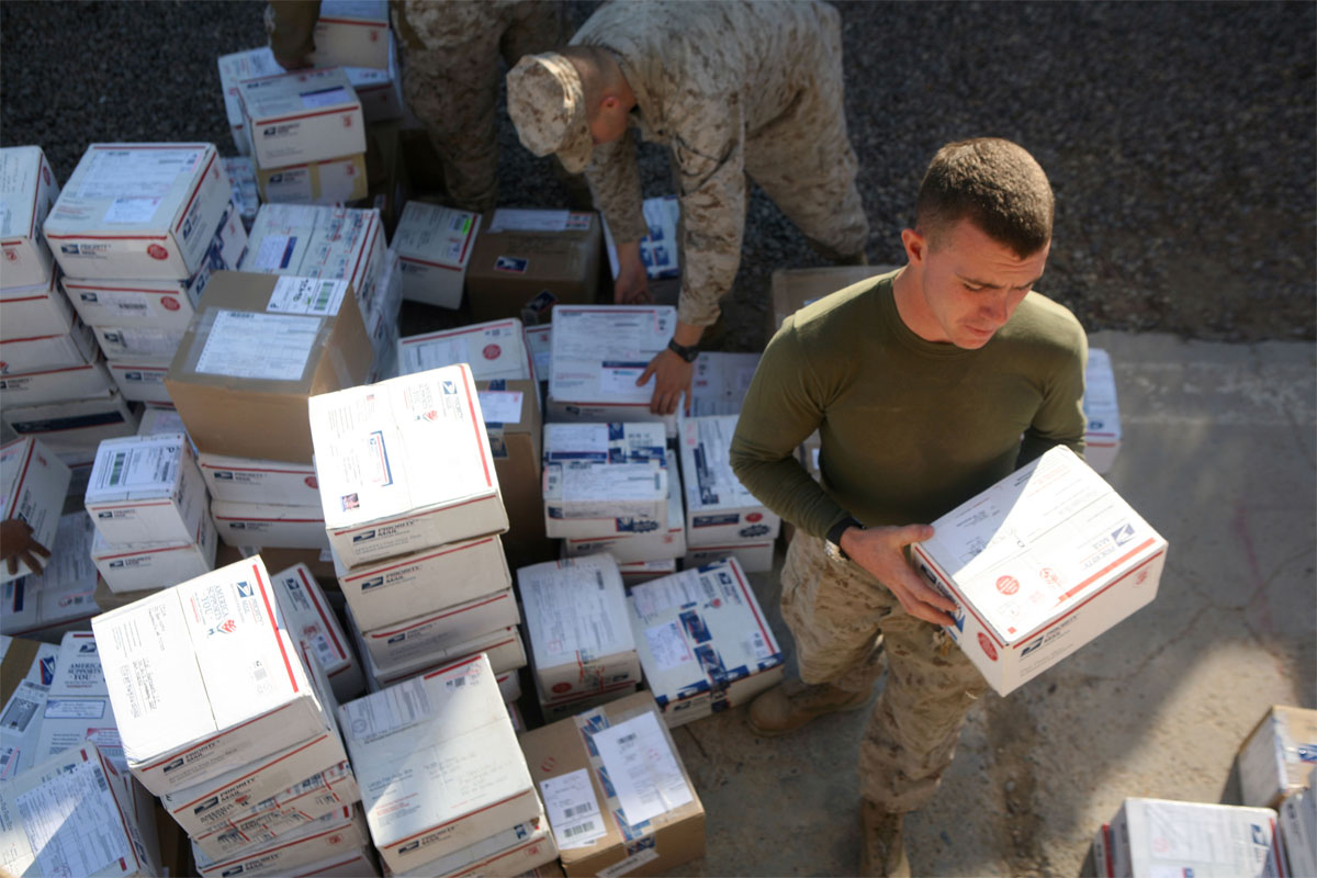 Usps Letters Travel By Truck Or Air