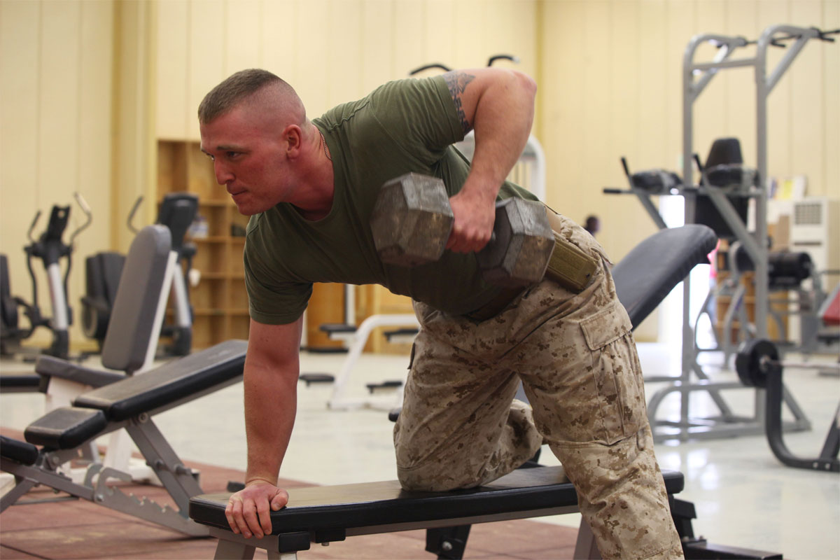 military push ups muscles worked