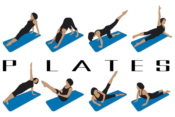 Pilates exercise banner.