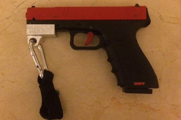 SIRT pistol with attachment.