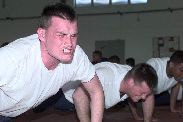 Intense pushups