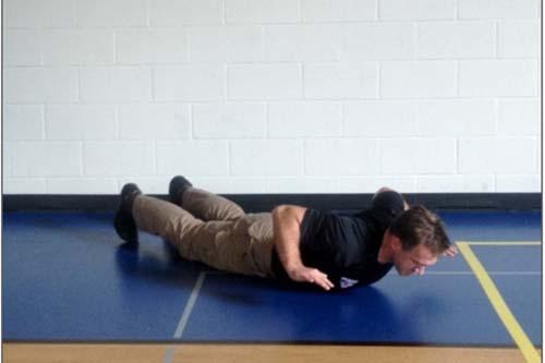 Reverse pushup down