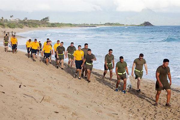 Marines and Sailors Beach Run
