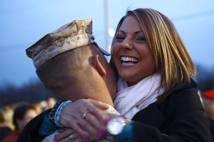 Marine with happy wife